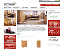 Jigsawz Furniture Company branding and e-commerce website