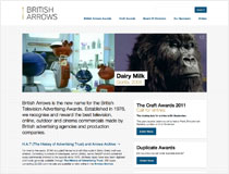 British Arrows Awards Website