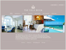 The Villa Book website